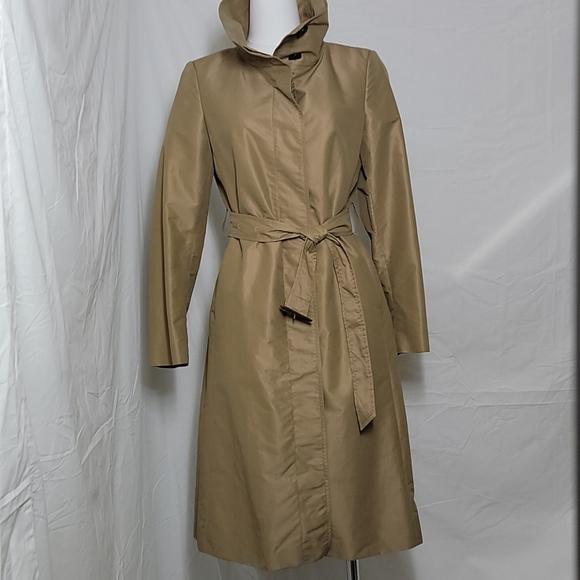Gold Tone Nylon Burberry Trench Coat